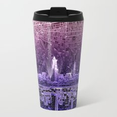 cleveland city skyline Travel Mug
