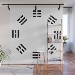 I Ching Clock Wall Mural