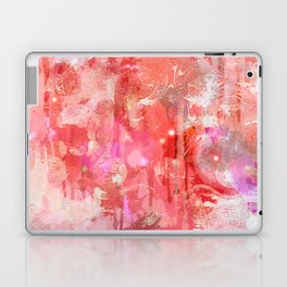 Modern contemporary pastel Blush and Peaches Abstract Laptop & iPad Skin