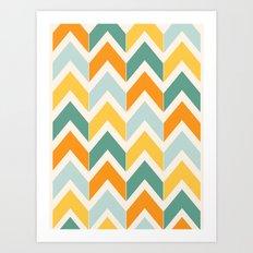 Citrus Chevron Art Print