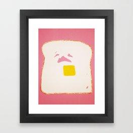 Sad Toast  Framed Art Print