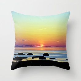 Summer's Glow Throw Pillow