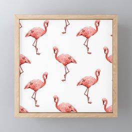 Living Coral Flamingo Fun Framed Mini Art Print