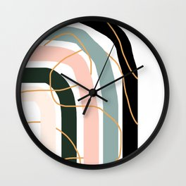 Unsettled Rainbow Wall Clock