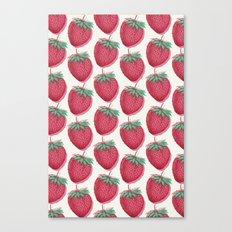 Strawberry Pattern Canvas Print