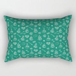 Tea time lush meadow Rectangular Pillow