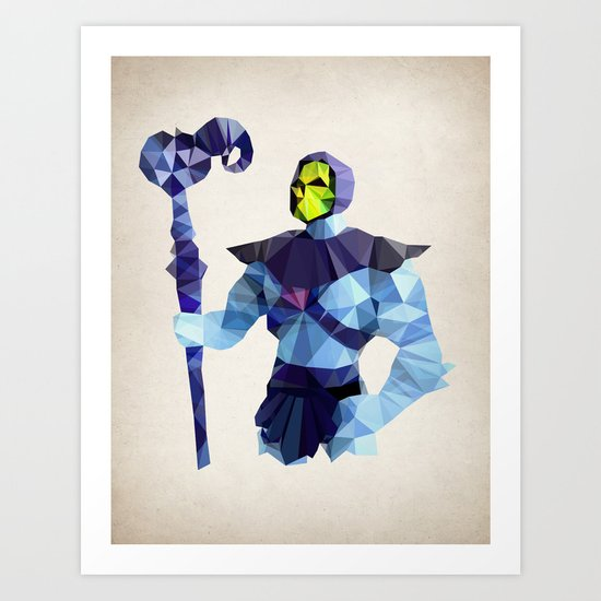 Polygon Heroes - Skeletor Art Print