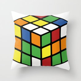 Rubik's Cube Throw Pillow
