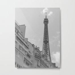Paris, Eiffel tower, Black white photo Metal Print