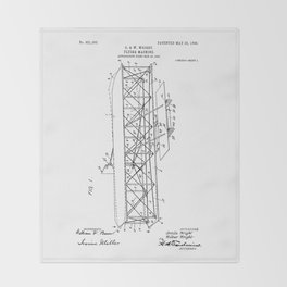 Wright Brothers Patent: Flying Machine Throw Blanket