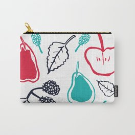 Apples and pears in blue and red Carry-All Pouch