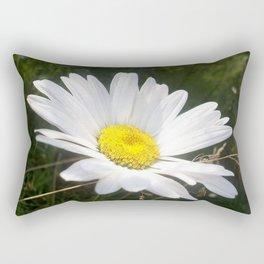 Close Up of a Margarite Daisy Flower Rectangular Pillow