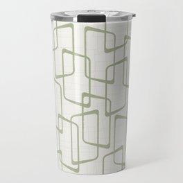 Reverse Beryl Green Mid Century Geometric Pattern Travel Mug