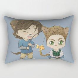 here kitty kitty Rectangular Pillow