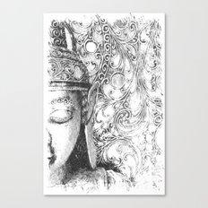Buddha Sketch Canvas Print