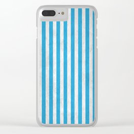 Stripes Collection: Greece Clear iPhone Case