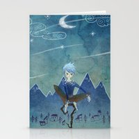 jack frost Stationery Cards featuring Jack Frost by Serena Rocca