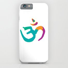 Colorful Om iPhone Case