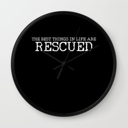 Rescued Cat Dog Pet Adoption Wall Clock