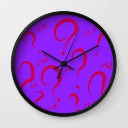 Joker/Riddler Wall Clock