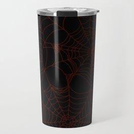 Red cobweb Travel Mug