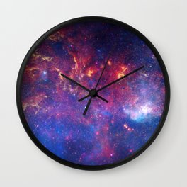 Galaxy in red'Blue Wall Clock