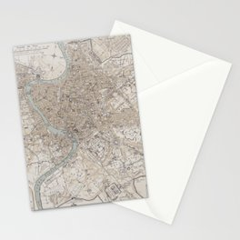 Vintage Map of Rome Stationery Cards