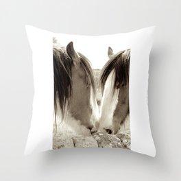 Horse Romance Throw Pillow