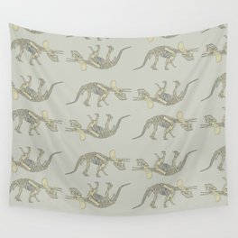 Triceratops Skeleton Wall Tapestry