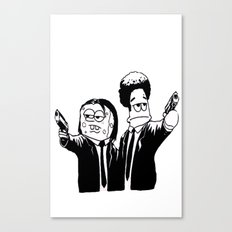 Pulp Fiction ( Patrick and Spongebob)  Canvas Print