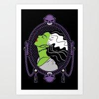 bride Art Prints featuring Bride by Buby87