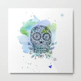 Colorful Calaverita Metal Print