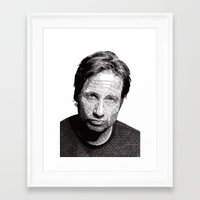 david fleck Framed Art Prints featuring David by Rik Reimert