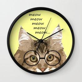 Meow, Meow, Meow, Meow, Meow... Wall Clock