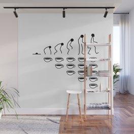 Coffee Evolution (Black & White) Wall Mural