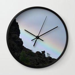Rainbow at Dimmuborgir Wall Clock