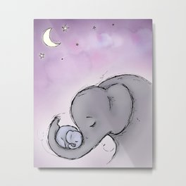 Goodnight Elephants Metal Print