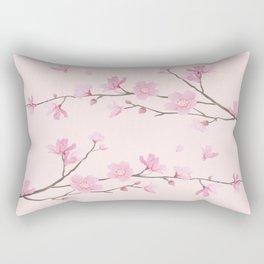Cherry Blossom - Pink Rectangular Pillow