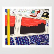 View from London Jubilee Line Art Print