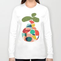 pear Long Sleeve T-shirts featuring Fresh Pear by Picomodi