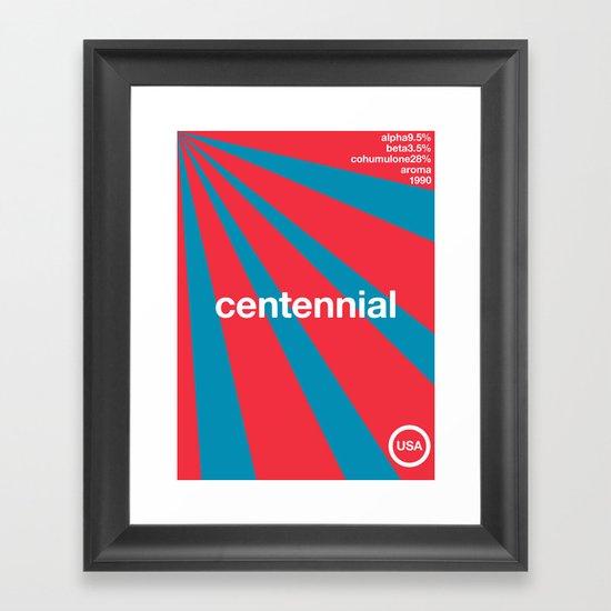 centennial//single hop Framed Art Print