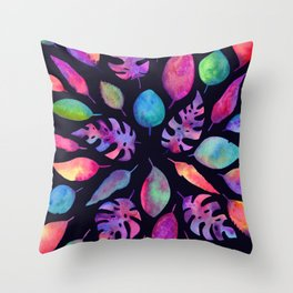 All the Colors of Nature - Ultra on Dark Background Throw Pillow