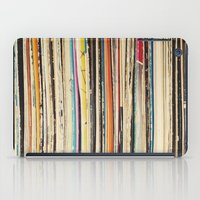 record iPad Cases featuring Record Collection by Cassia Beck