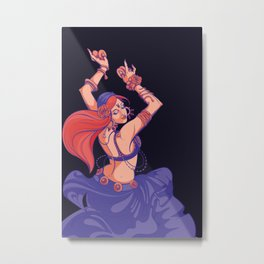 Gypsy dance tribal fusion belly dance with cymbals Metal Print
