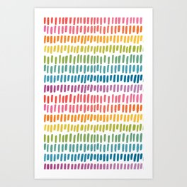 Rainbow Rectangle Pattern Art Print