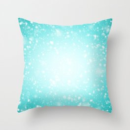 Snowing in the sky Throw Pillow