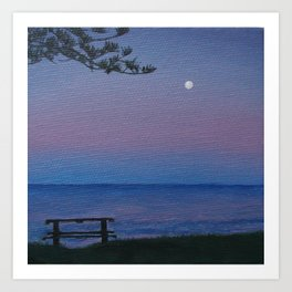 Shelly Beach sunset Art Print