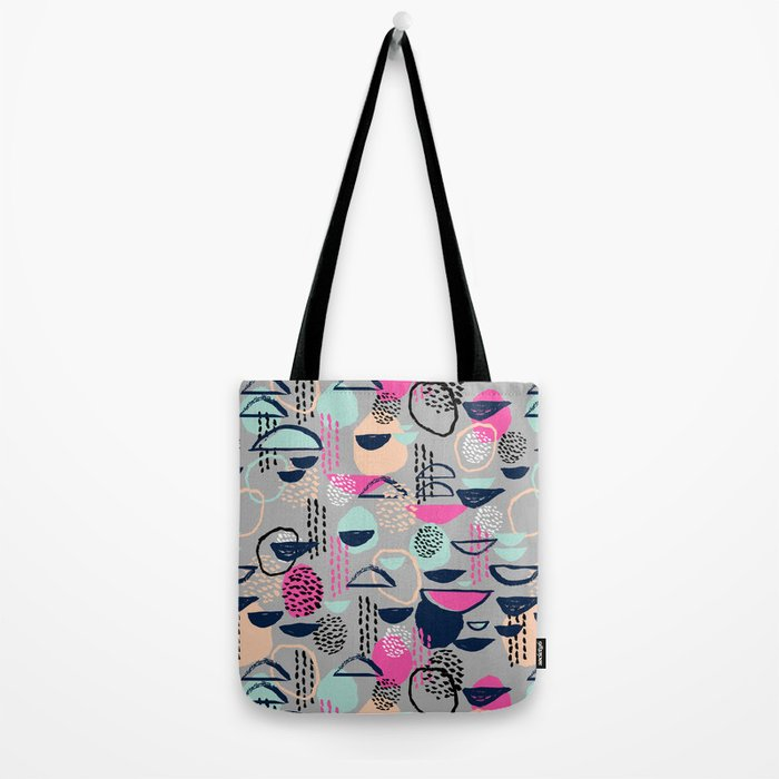 Rumba - pattern print retro cool hipster art colorful feminine shapes abstract Tote Bag