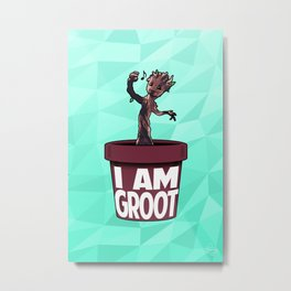 Baby Groot (Spearmint variant) Metal Print