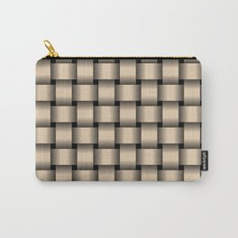Bisque Brown Weave Carry-All Pouch